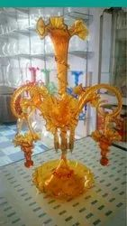 Glass Epergne for Home, Size/Dimension: 22 Inch