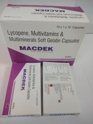 Lycopene,Multivitamin and Multimineral Soft Gelatin Capsules
