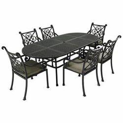 Black Stainless Steel Dining Table for Hotel, Restaurant