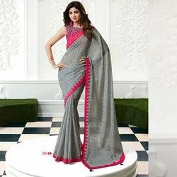 Party Wear Printed Fancy Sarees, With blouse piece, 5.5 m (separate blouse piece)