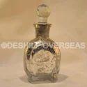 Deshilp Overseas Glass Silver Perfume Bottle