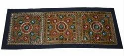 Handmade Mirror Work Wall Decor Indian Hand Embroidered Wall Hanging Tribal Gypsy Wall Tapestry