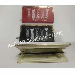 Kartar Red and Black Rectangular Ladies Hand Purse, For Gift