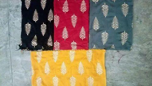 Gold Printed Rayon Fabric