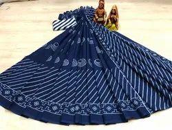 Bagru Print Cotton Saree