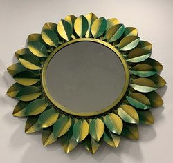 Wall Art Handicraft Wall Mirror Decor Leaf Design
