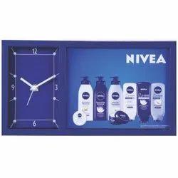 Skymy Nivea Promotional Table Clock With Calendar and Frame