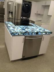 Blue Agate Kitchen Island Counter
