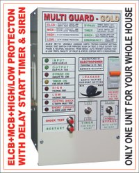 25 A 2 Poles High Low Voltage Protector Panel With ELCB and MCB