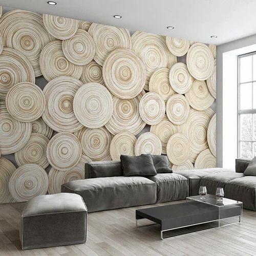 Cream Pvc Designer Wallpaper