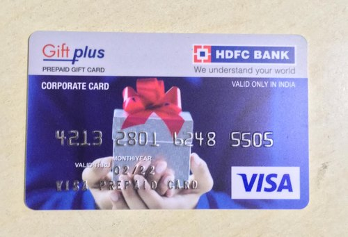 Hdfc Bank Gift Card /gift Plus Card/ Bank Cards / Prepaid Card