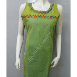 Handloom Embroidered Kurtis