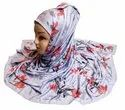 Women's Jersey Stretchable Digital Floral Printed Hijab Scarf Dupatta