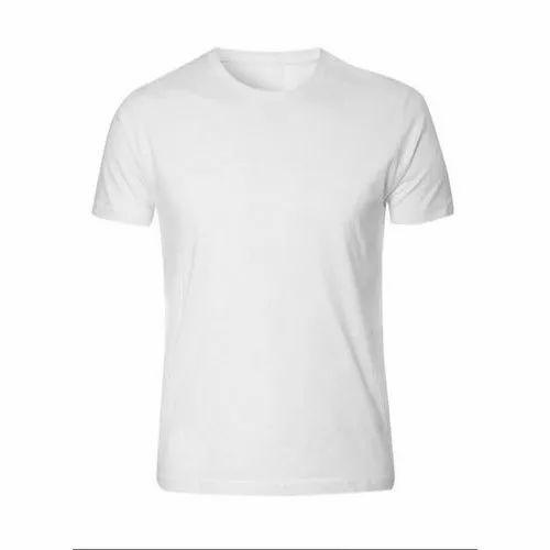 Cotton Mens White Plain T Shirts, Rs 40 /piece Sublimation Solutions  Limited Liability Partnership | ID: 21172060862