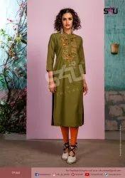 S4u by Shivali Tropical Straight Party Wear Kurties