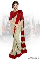 Double Color Uniform Saree