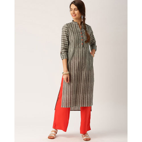 bbbe674933 Cotton Grey And Off White Palazzo Suit, Rs 685 /set, Nandani ...