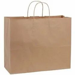 Handled Brown Paper Handle Carry Bags, Bag Size: 14 X 18 X 4 Inch