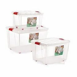 Plastic Storage Boxes With Wheels, Packaging Type: Box