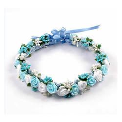 Blue White Blue And White Flower Tiara Rs 199 Piece The Hand