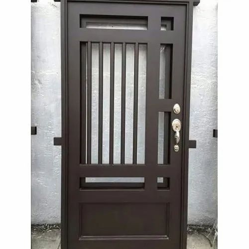 Designer Safety Door Brown Iron