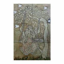 Radha Krishna Tile Murals