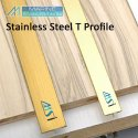 Stainless Steel Antique Brass Finish TPatti Profile