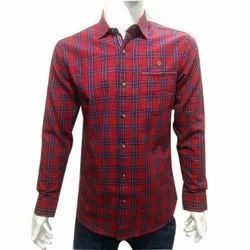 Men Cotton Full Sleeves Check Shirt, Size: S-XXL
