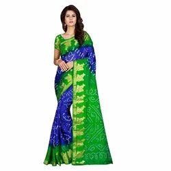 Ladies Cotton Bandhani saree