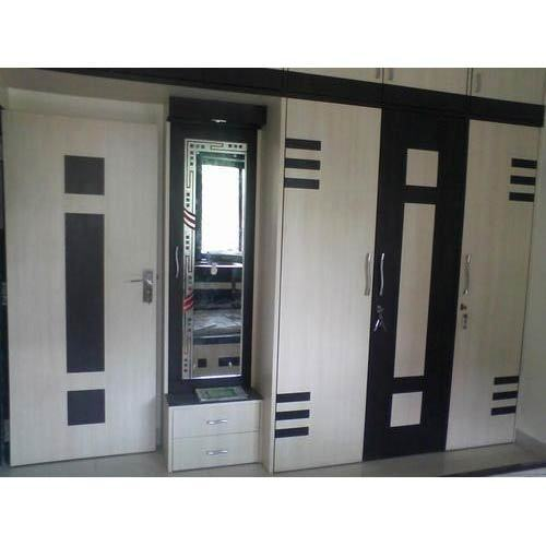 Black And Cream Wardrobe Designs, Rs 1100 /square Feet