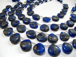Blue Lapis Oyster Turquoise Heart Shape  Beads
