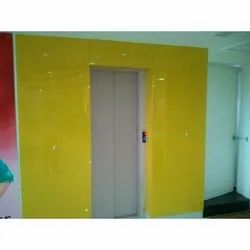 Yellow Lacquered Glass Sheet