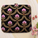 Embroidery Box Clutch