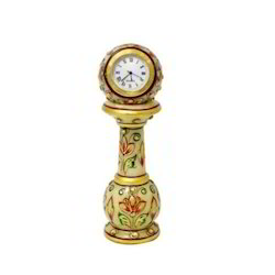 Piller Clock Golden Leaf