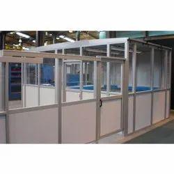 Silver Satya Aluminium Office Cabins