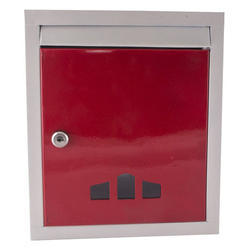 Multicolor Metal Letter Box, Lock With Two Keys, Size: Standard
