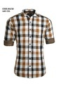 Double Fabric Checked Casual Shirts