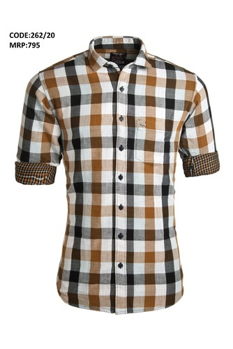 418b7daaf Urban Design (UD) Cotton Double Fabric Checked Casual Shirts, Size: 40.0,