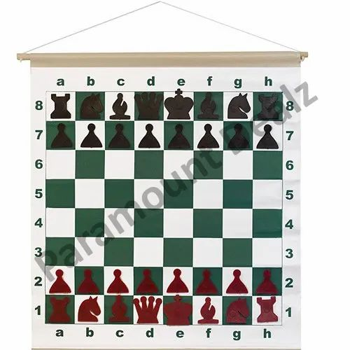 Magnetic Chess Demonstration Board And Pieces