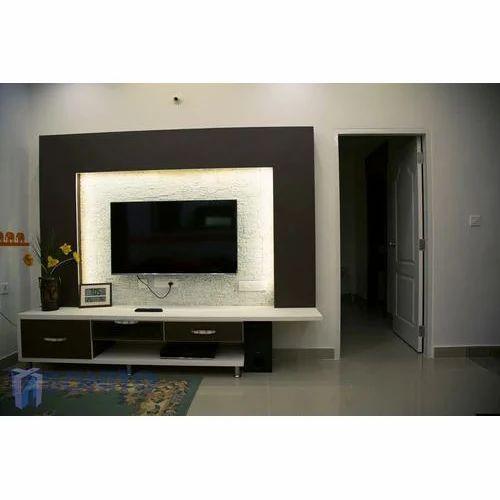 wooden modern designer tv wall unit, height 6 feet, rs 35000 piece design of  tv wall unit design of tv wall unit