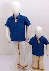 Plain Kids Silk Dhoti Shirts, Age Group :1-10