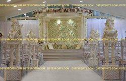 DST EXPORTS Fiberglass Wedding Double Pole Aisleway Pillars