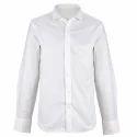 Mens White Readymade Plain Shirt, Size: 38-44
