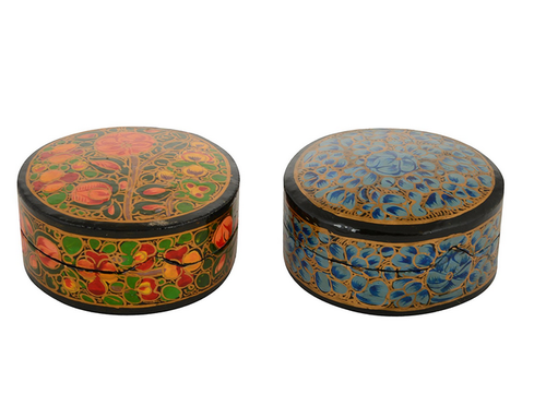 Handmade Paper Mache Decorative Pill Boxes At Rs 40 Pack Boxes Impressive Decorative Pill Boxes