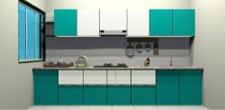 Green Modular Kitchen