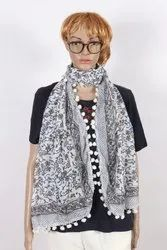 Handblock Printed Cotton Scarf