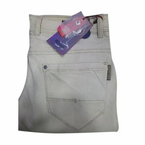 Gray Regal Men Cotton Jeans