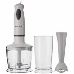 White Morphy Richards 400 Watt Hand Blender, Warranty: 1 Year, Blade Material: Stainless Steel