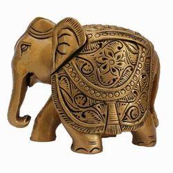 Decorative Wooden Elephant Statue