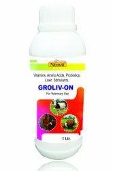 GROLIV-ON (Vitamins, Amino Acids, Probiotics, Liver Stimulants), For Clinical, Grade Standard: Feed Grade